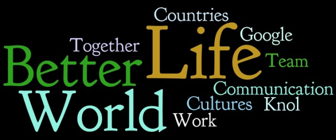 "Wordle Logo ""For A Better World"""