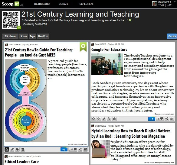 curation: 21st Century Learning and Teaching