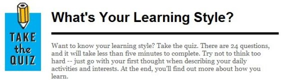 What's Your Learning Style???