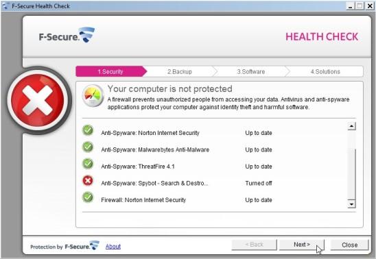 F-Secure Health Check