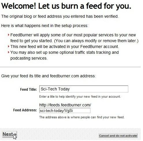 Burn the feed