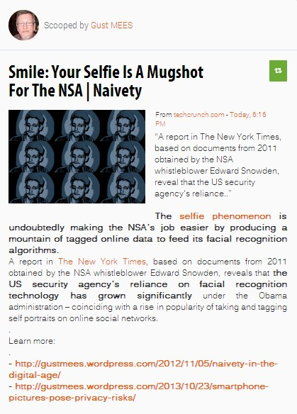 Smile: Your Selfie Is A Mugshot For The NSA | Naivety