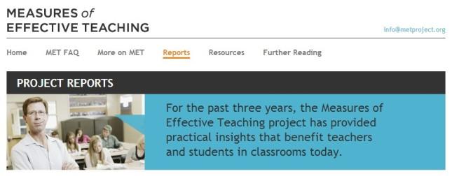 Measuring Effective Teaching (MET)