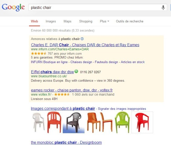 Search results: plastic chair""