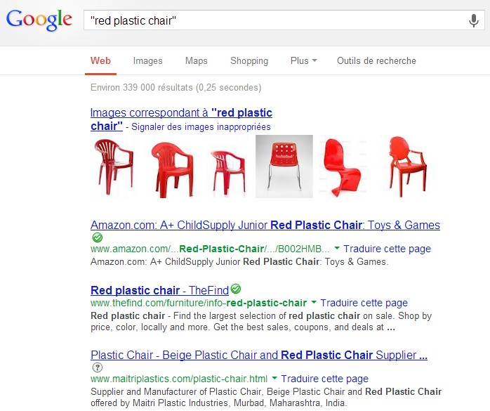 """Search results: """"red plastic chair"""""""