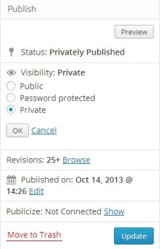 Private publishing in WordPress