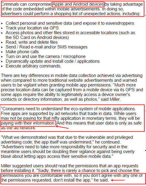 Apps vulnerabilities