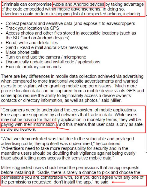 Apps vulnerabilities