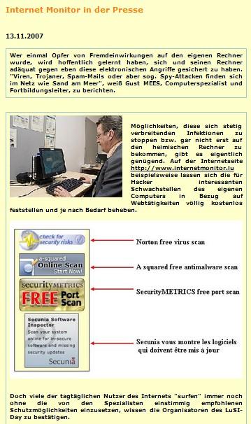 Gust MEES-Tageblatt 13.11.2007
