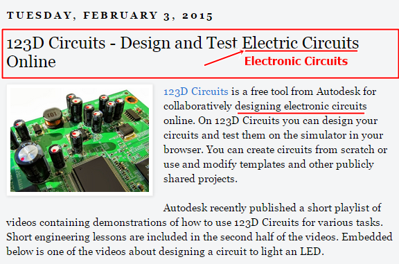Design electric circuits