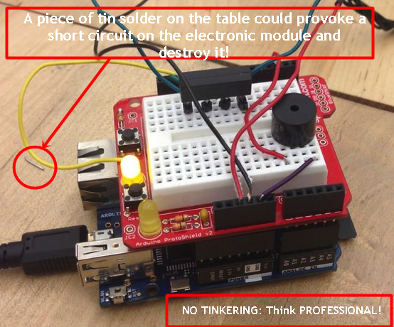 MakerSpacesDONTs-Conductive-pieces-on-table
