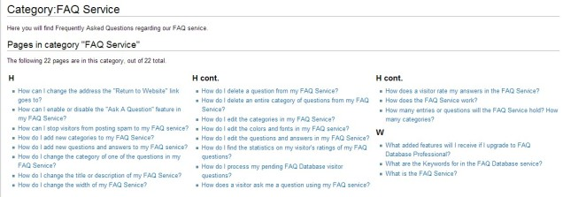 FAQ Bravenet