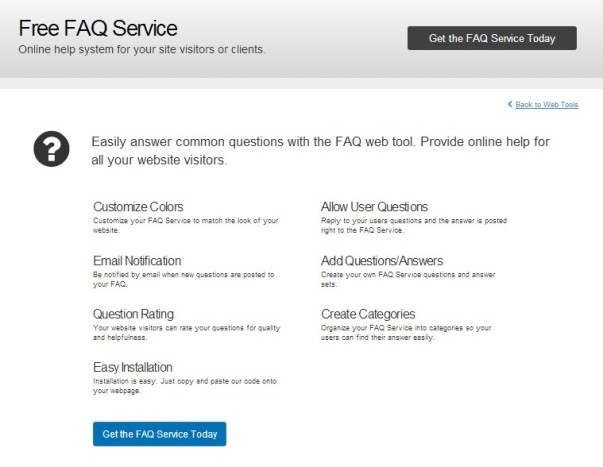 Bravenet: Register your New FAQ Service