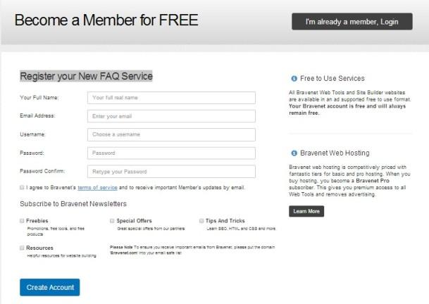 Bravenet Membership