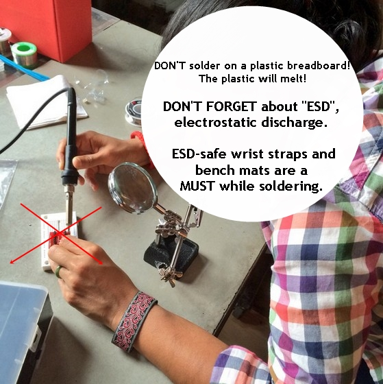 Soldering and ESD