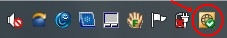 antivirus in taskbar