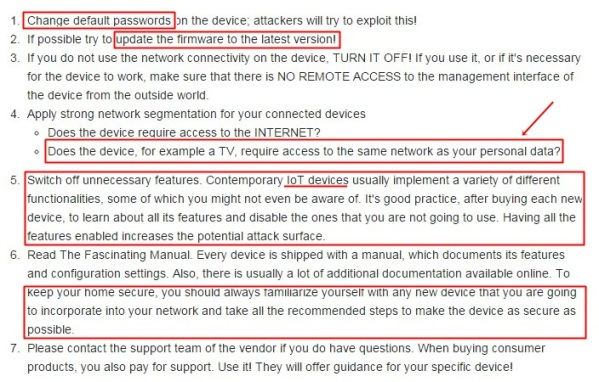 Guidelines for securing your home
