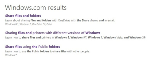 Windows sharing over network