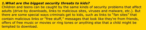 1.What are the biggest security threats to kids?