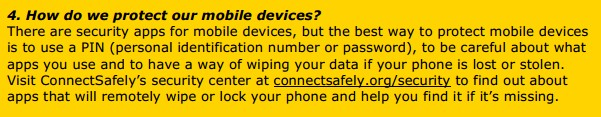 4. How do we protect our mobile devices?