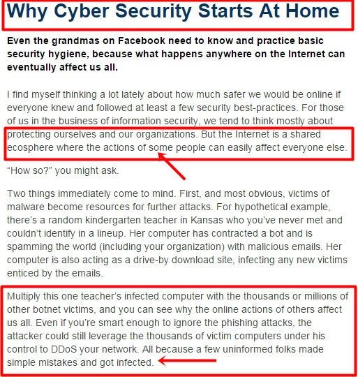 WHY CyberSecurity Starts At Home