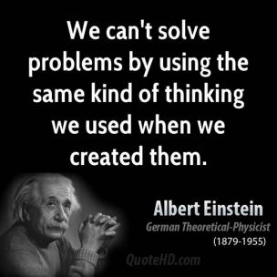 EINSTEIN quotes-problems