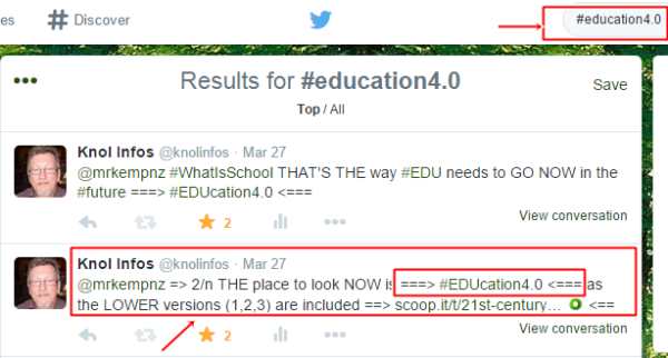 Searching on Twitter for #EDUcation4.0