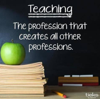 Teaching the profession that...