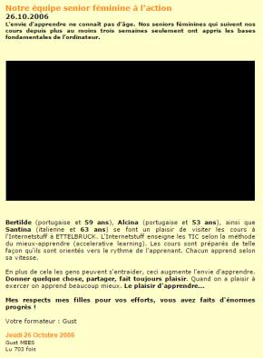 Internetstuff-Andragogy-équipe senior féminine-2006
