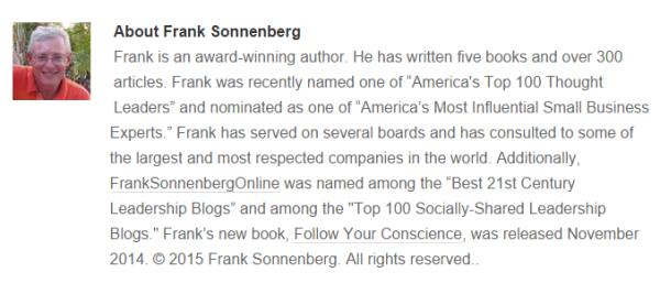 Frank SONNENBERG-Profile