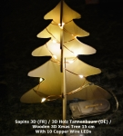 Wooden 3D Xmas Tree with leds