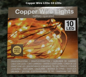 Copper Wire LEDs 10 pieces