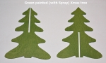 Painted (with spray) 3D Wooden Xmas Tree