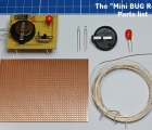 The Mini BUG Robot Parts list