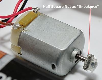 Half Square Nut as unbalance