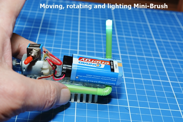 The moving, rotating and lighting Mini-Brush
