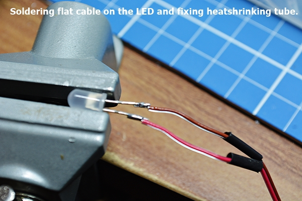LED soldering and heat shrinking tube