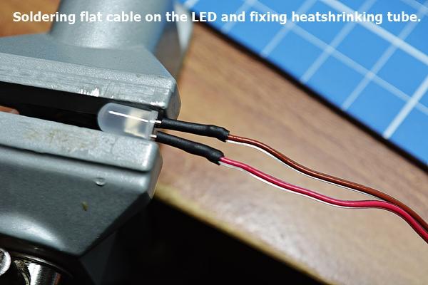 LED soldering and heat shrinking tube
