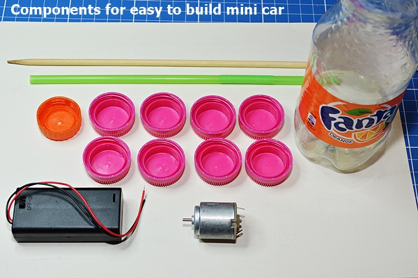 Components for easy to build mini car
