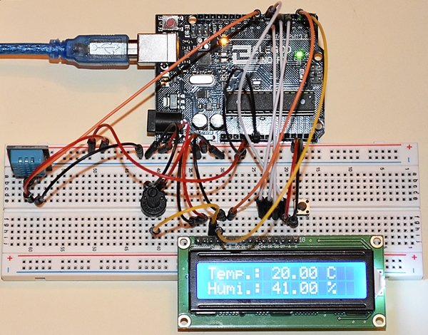 Temperature/Humidity Sensor DHT11 and LCD1602