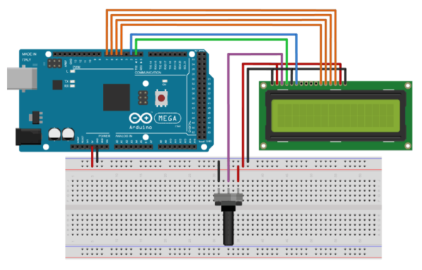 LCD1602-Wiring with Arduino