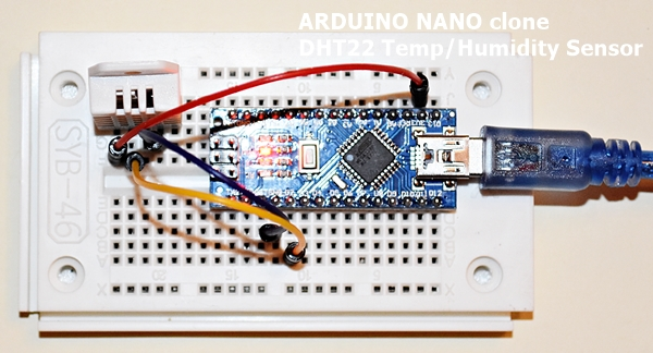 First Steps with the Arduino-NANO | DHT22 Temperature