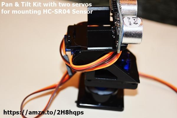 Ultrasonic Sensor on Pan & Tilt Kit