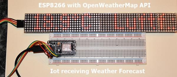 ESP8266 and Matrix LED MAX7219