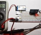Power Supply for Breadboard-Multimeter Test