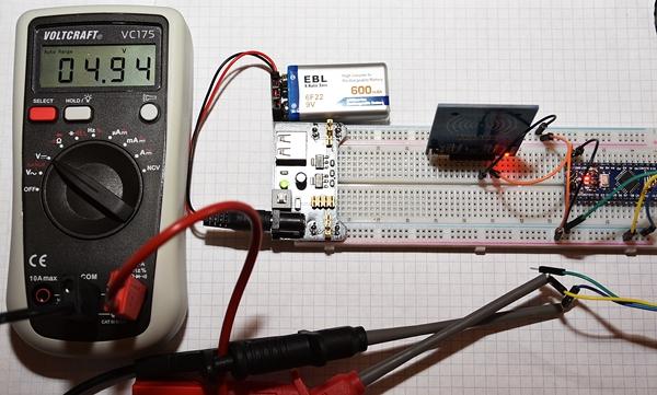 Power Supply for Breadboard-Multimeter Test