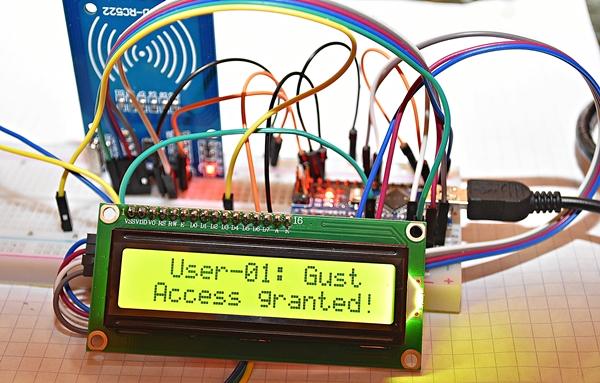 RFID-RC522-LCD1602-I2C