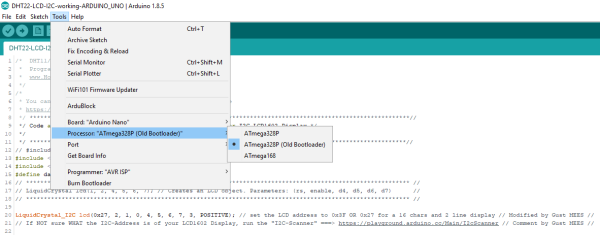 Arduino-IDE-Board Manager-OLD-NEW-BOOTLOADER