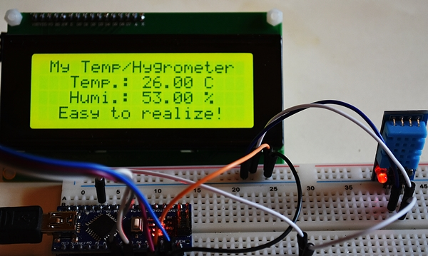 I2C LCD2004 4 lines of text