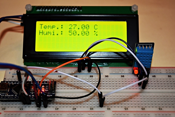 I2C LCD2004 and DHT11